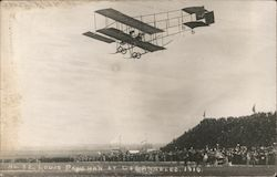 Louis Paulhan at Flying Biplane