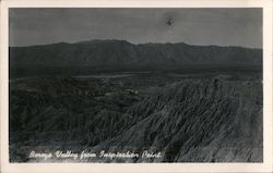 Borego Valley From Inspiration Point Postcard