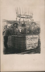 Men in a Basket of a Hot Air Balloon