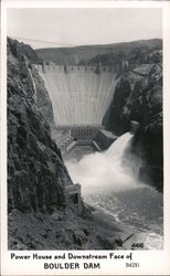 Power House and Downstream Face of Boulder Dam