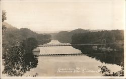 Suspension Bridge Over Connecticut River