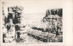 Old Fort on Moran's Point & Bissell's Point Postcard