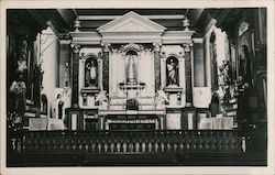 Interior of Church, Mission San Buenaventura Postcard