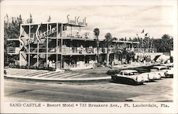 Sand Castle - Resort Motel, 733 Breakers Ave. Postcard