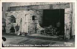 Large Fireplace and Bake Oven, Weeks House Postcard