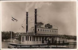 The Showboat, Festival Pleasure Gardens Postcard