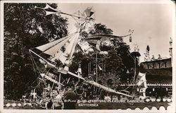 The Shell Byplane - Festival Pleasure Gardens Postcard