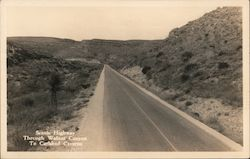 Scenic Highway Through Walnut Canyon to Carlsbad Caverns