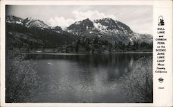 Gull Lake and Carson Peak on the Scenic June Lake Loop Mono County California