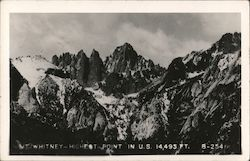 Mt. Whitney-Highest Point in U.S. 14,495 Ft.