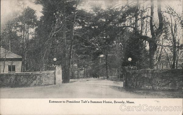 Entrance to President Taft's Summer Home Beverly Massachusetts