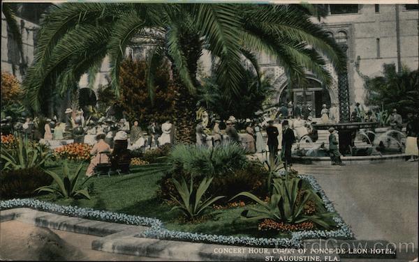 Concert Hour, Court of Ponce De Leon Hotel St. Augustine Florida