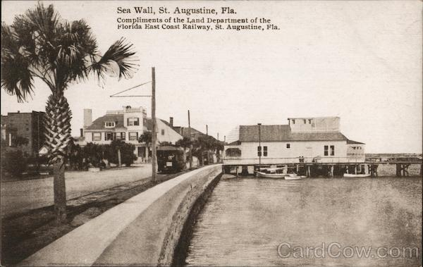 Sea Wall St. Augustine Florida