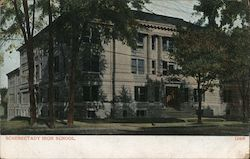 Schenectady High School Postcard