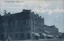 Strickland Building Carthage, NY Postcard