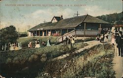 Station from the South, Electric Park, A&H Railway Postcard