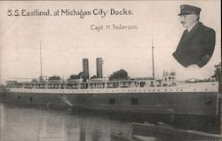 S.S. Eastland, at Michigan City Docks Postcard