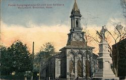 Porter Congregational Church and Soldier's Monument Postcard