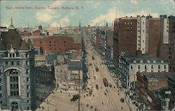 Main Street from Shelton Square Postcard