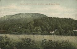 Canaan Mountain and Church Hill Postcard