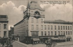 The New Vendome Hotel, Cor. State and Center Sts. Postcard