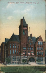 Allegheny High chool Postcard