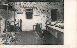 Interior of Old Forge Postcard