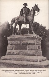 General Anthony Wayne Monument Postcard