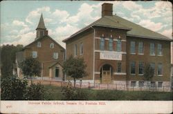 Stevens Public School, Seneca Sst. Fountain Hill, PA Postcard