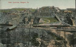 Slate Quarries Postcard