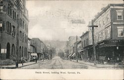 Tenth Street, Looking West Postcard