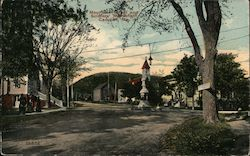 Mountain Street and Soldiers' Monument Postcard