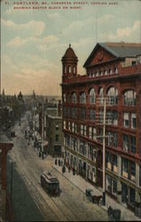 Congress Street, Looking East, Showing Baxter Block on Right
