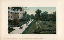 The Grounds, Hotel Royal Poinciana Postcard