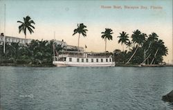 House Boat Postcard