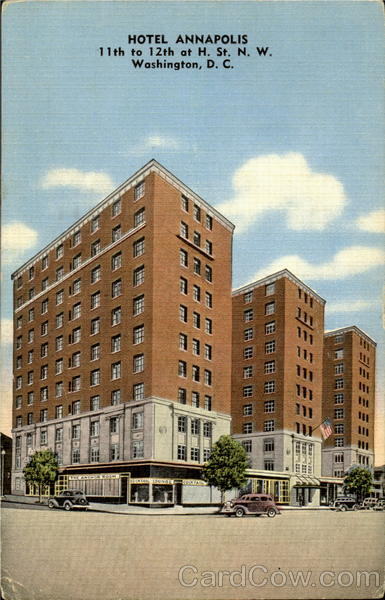 Hotel Annapolis, 11th to 12th of H. St Washington District of Columbia
