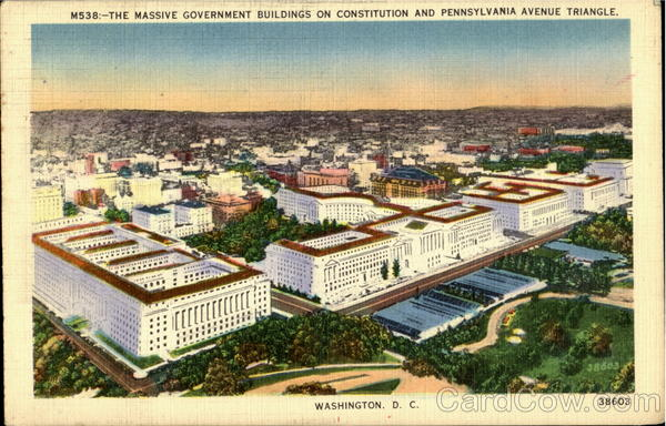 The Massive Government Buildings Washington District of Columbia