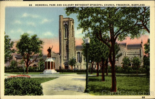 Memorial Park And Calvard Methodist Episcopal Church Frederick Maryland