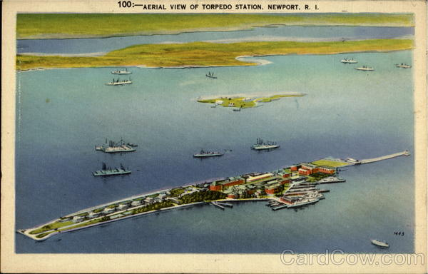 Aerial View Of Torpedo Station Newport Rhode Island