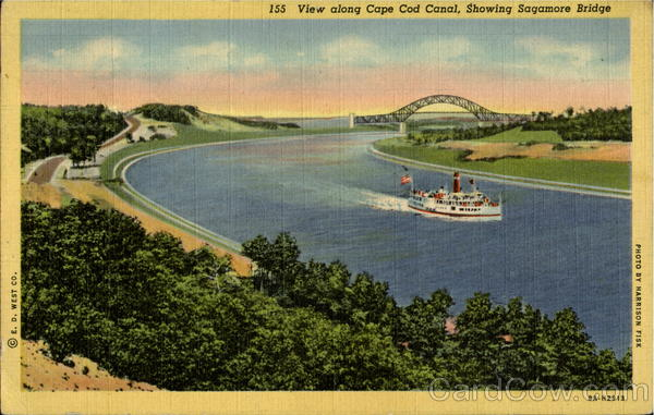View Along Cape Cod Canal Massachusetts