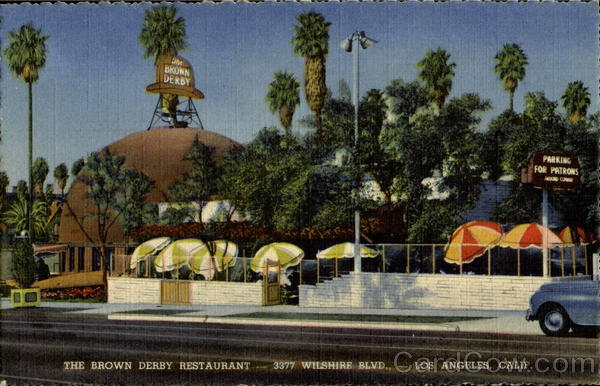 The Brown Derby Restaurant, 3377 Wilshire Blvd Los Angeles California