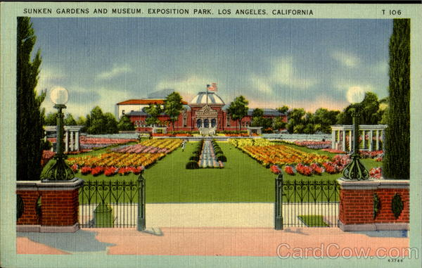 Sunken Gardens And Museum, Exposition Park Los Angeles California