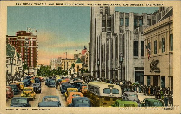 Heavy Traffic And Bustling Crowds Los Angeles California