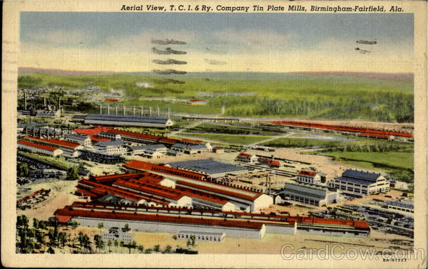 Aerial View T. C. I. & Ry Fairfield Alabama