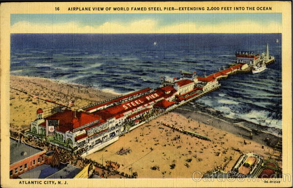 Airplane View Of World Famed Steel Pier Atlantic City New Jersey