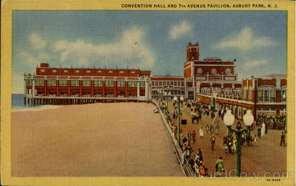 Convention Hall And 7Th Avenue Pavilion Asbury Park New Jersey