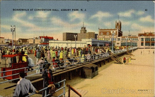 Boardwalk At Conventional Hall Asbury Park New Jersey