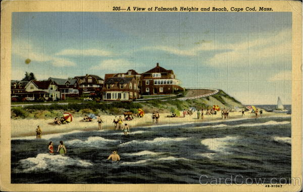 A View Of Falmouth Heights And Beach Cape Cod Massachusetts