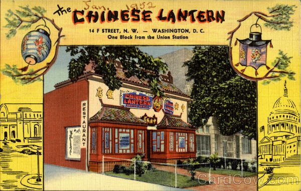 The Chinese Lantern, 14 F Street Washington  District of Columbia