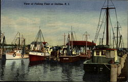 View Of Fishing Fleet At Galilee Postcard